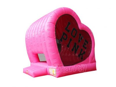 brincolin inflable corazon rosa