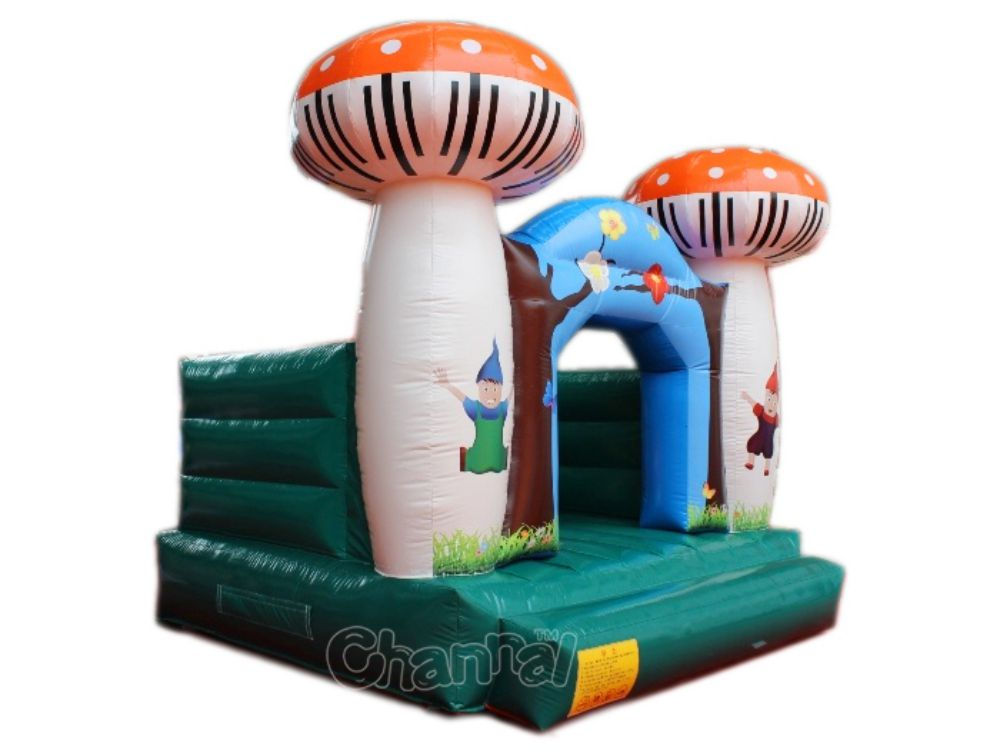 castillo inflable seta