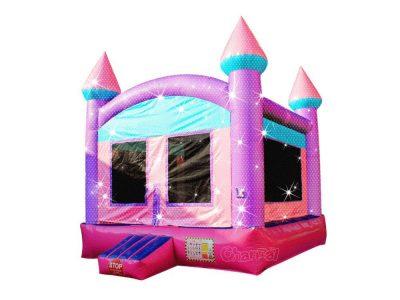 castillo inflable princesa espumoso
