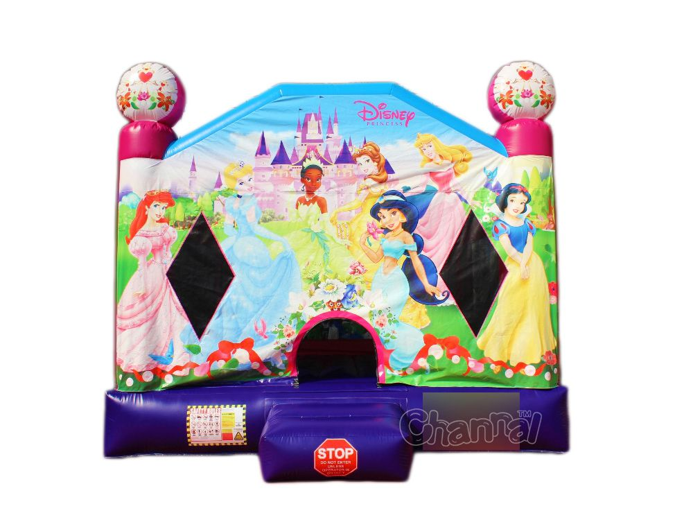 castillo inflable princesa rosa