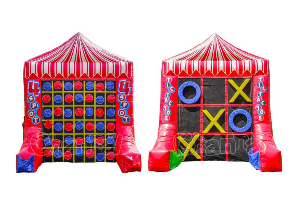 4 puntos inflable tic tac toe