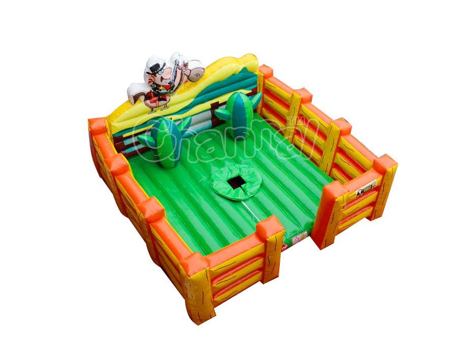 plataforma inflable corral